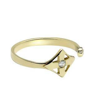 Кольцо золотое ромб Louis Vuitton - фото, каталог
