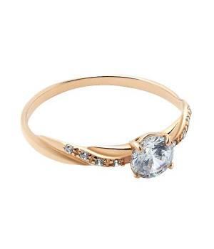 Кольцо золотое с фианитами Теодора