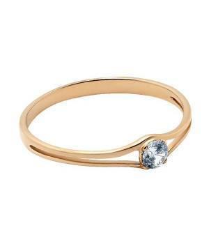 Кольцо золотое женское нежное Единственная