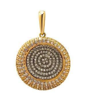 Кулон золотой с камнями Эльвира