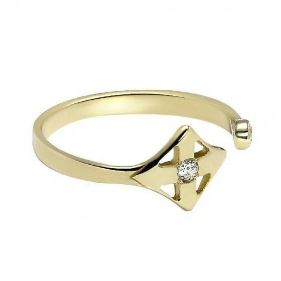 Кольцо золотое ромб Louis Vuitton