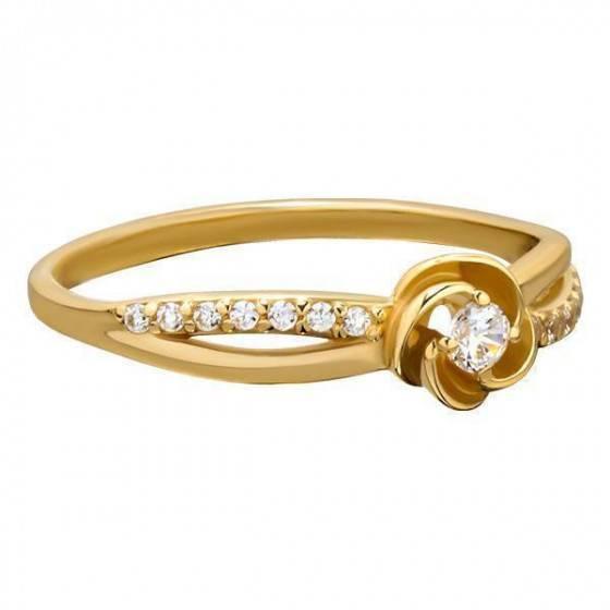 Кольцо золотое нежное Восторг