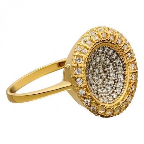 Кольцо золотое экстравагантное Эльвира