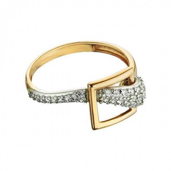Кольцо золотое женское Мгновение радости