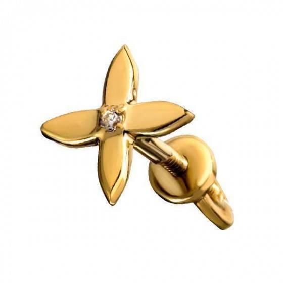 Серьги гвоздики четырехлистник Louis Vuitton
