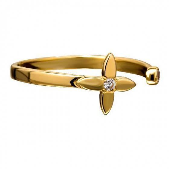 Кольцо золотое четырехлистник Louis Vuitton