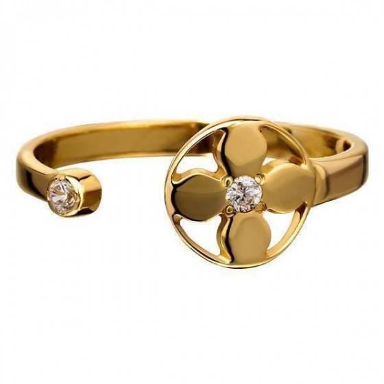Кольцо золотое круг Louis Vuitton