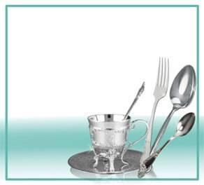Столовое серебро и посуда